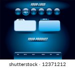 website blue glossy template | Shutterstock .eps vector #12371212