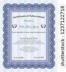 blue diploma or certificate...   Shutterstock .eps vector #1237122718