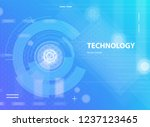 abstract blue background in... | Shutterstock .eps vector #1237123465