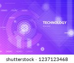 abstract purple background in... | Shutterstock .eps vector #1237123468
