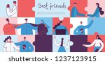 vector banner with the group of ... | Shutterstock .eps vector #1237123915