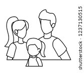 parents couple with daughter... | Shutterstock .eps vector #1237130515