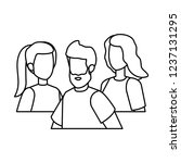 group of people characters | Shutterstock .eps vector #1237131295