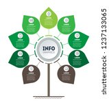vertical green timeline... | Shutterstock .eps vector #1237133065