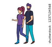 couple avatar characters icons | Shutterstock .eps vector #1237134568