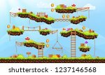 video game. elements and... | Shutterstock .eps vector #1237146568