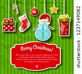 christmas decorations on...   Shutterstock .eps vector #1237149082