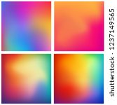 abstract colorful gradient mesh ... | Shutterstock .eps vector #1237149565