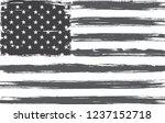 old grunge usa flag.vintage... | Shutterstock .eps vector #1237152718