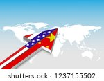 usa and china trade and  arrow.... | Shutterstock .eps vector #1237155502