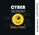 graphics on cyber monday with a ... | Shutterstock .eps vector #1237159522