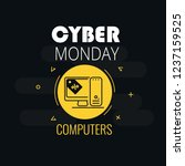 graphics on cyber monday with a ... | Shutterstock .eps vector #1237159525