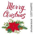 christmas card made of... | Shutterstock .eps vector #1237166992