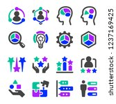 talent icon set vector and...   Shutterstock .eps vector #1237169425
