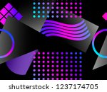 memphis seamless pattern....   Shutterstock .eps vector #1237174705