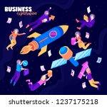 business exploration color... | Shutterstock .eps vector #1237175218