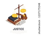 law isometric composition with... | Shutterstock .eps vector #1237175248