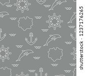 seamless pattern with dolphins  ...   Shutterstock .eps vector #1237176265
