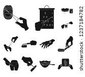 manipulation by hands black...   Shutterstock . vector #1237184782