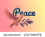 vector illustration of a dove... | Shutterstock .eps vector #1237186378