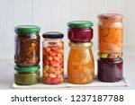 Variety Of Preserved Food In...