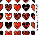 various hearts. seamless...   Shutterstock .eps vector #123719332