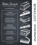 italian desserts menu design.... | Shutterstock .eps vector #1237193638