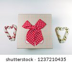 presents gift boxes and red... | Shutterstock . vector #1237210435