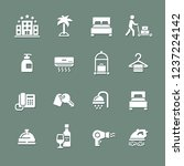set of hotel icons | Shutterstock .eps vector #1237224142