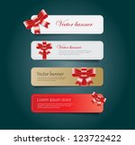 vintage vector banners... | Shutterstock .eps vector #123722422