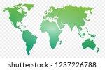 world map vector illustrated... | Shutterstock .eps vector #1237226788