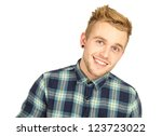 young handsome man isolated on... | Shutterstock . vector #123723022