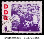 germany   circa 1961  a stamp... | Shutterstock . vector #123723556