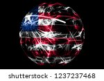 abstract liberia sparkling flag ... | Shutterstock . vector #1237237468