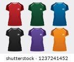 t shirt sport template design... | Shutterstock .eps vector #1237241452