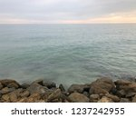 caspian sea stone shore in...   Shutterstock . vector #1237242955