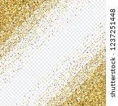 golden glitter abstract corner... | Shutterstock .eps vector #1237251448