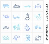 delivery icon set and suv with...
