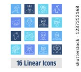 person icon set and teddy bear... | Shutterstock .eps vector #1237252168
