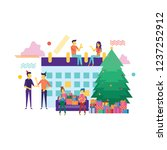 business people preparing for...   Shutterstock .eps vector #1237252912
