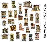 Set Of Vintage Facades   Londo...