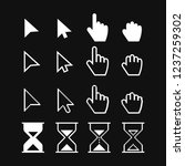 arrow web cursors  digital hand ... | Shutterstock .eps vector #1237259302