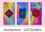 vibrant packaging design with... | Shutterstock .eps vector #1237263802