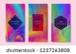 vibrant packaging design with... | Shutterstock .eps vector #1237263808