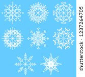collection of artistic icy... | Shutterstock . vector #1237264705
