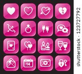 valentine's day icons   glossy... | Shutterstock .eps vector #123727792
