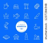 lineo white   barbecue and... | Shutterstock .eps vector #1237286548