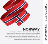 norway flag for decorative... | Shutterstock .eps vector #1237293352