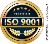 iso 9001 2015 certified quality ... | Shutterstock .eps vector #1237300675