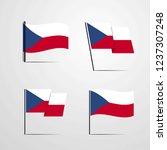 czech republic waving flag | Shutterstock .eps vector #1237307248